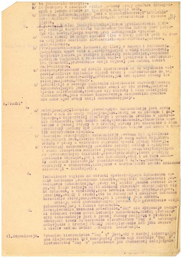 Fot. 2. Okólnik nr 1 z 20 sierpnia 1944 r., sporządzony przez Edwarda Serwańskiego.