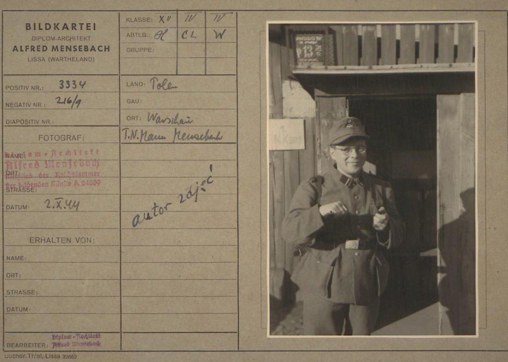 Fot.3. Alfred Mensebach w mundurze. Źródło: I.Z. Dok. IV-112.