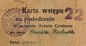 Fot. 1. Imienna karta wstępu. Źródło: I.Z. Dok. V – 126.