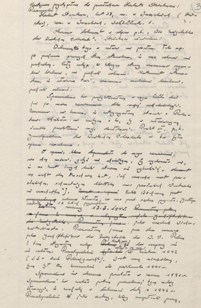 Fot. 1c. Protokół z przesłuchania. Źródło: I.Z. Dok. III – 9.