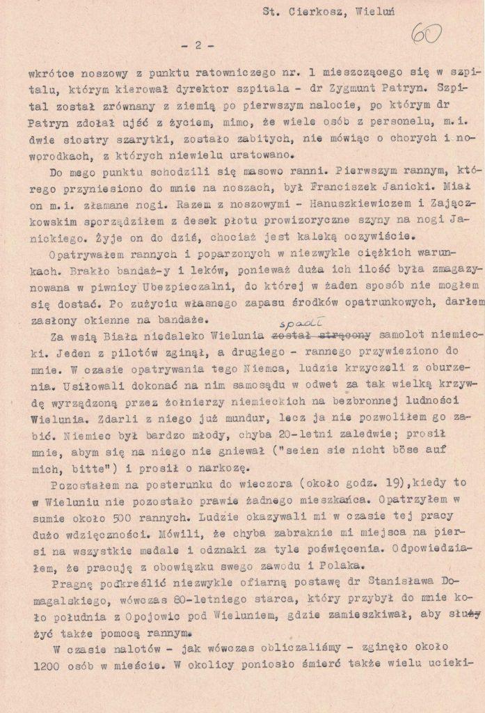 Fot. 5b. Relacja Stanisława Cierkosza. Źródło: I.Z. Dok. III – 100.