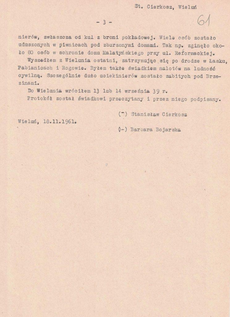 Fot. 5c. Relacja Stanisława Cierkosza. Źródło: I.Z. Dok. III – 100.