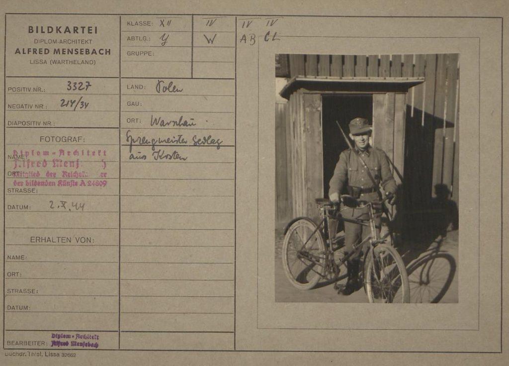 Fot. 4. Inny członek Sprengkommando – Franz Sedlag z Kościana. Źródło: I.Z. Dok. IV-112.