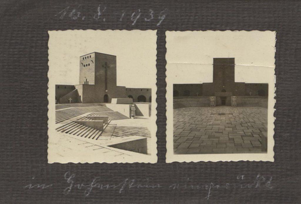 Fot. 1. Pierwsza karta albumu - pomnik Hindenburga. Źródło: I.Z.Dok. IV-163.